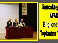 Sancaktepe'de AFAD Bilgilendirme Toplantısı Yapıldı