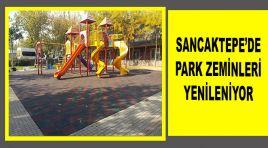 SANCAKTEPE'DE PARK ZEMİNLERİ YENİLENİYOR