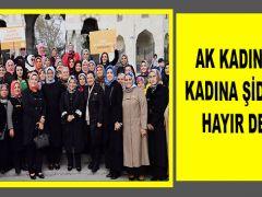 AK KADINLAR KADINA ŞİDDETE HAYIR DEDİ!