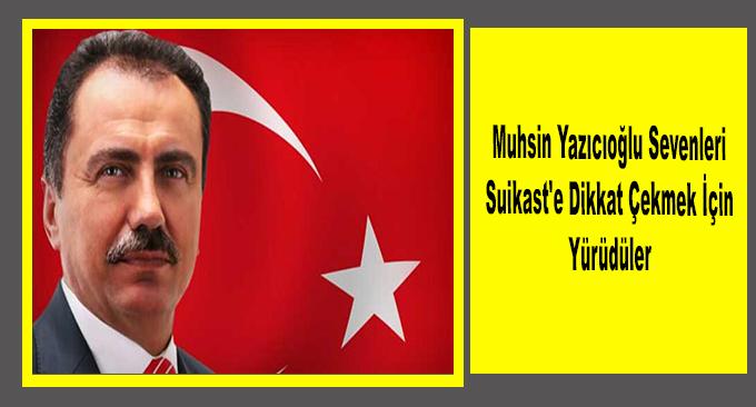 Rahmetli Muhsin Yazıcıoğlu Sevenleri Suikast'e Dikkat Çekmek İçin Yürüdüler