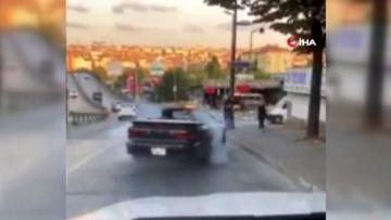 Son dakika haber… Yol ortasında drift yapan trafik magandası, polis ekiplerince yakalandı
