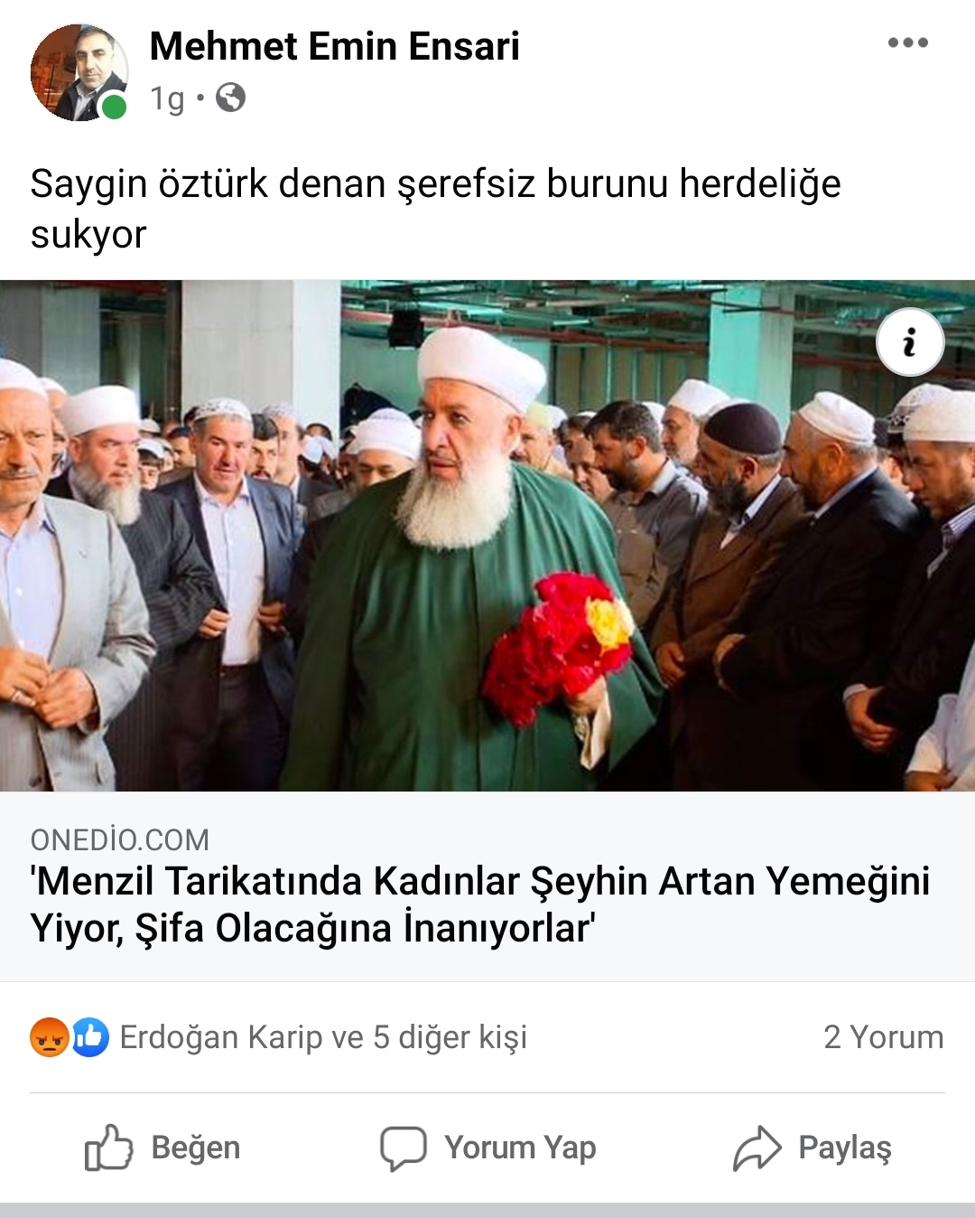 """CHP SULTANBEYLİ MECLİS ÜYESİ EMİN ENSARİ SÖZCÜ YAZARINA """"BURNUNU HER ŞEYE SOKMA"""""""