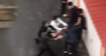 Fatih te market hırsızına meydan dayağı