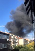 Çapa Tıp Fakültesi inşaatında yangın Çıktı